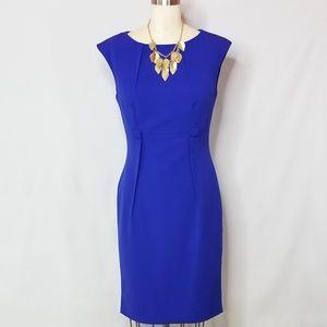 EUC Calvin Klein Cobalt Blue Pencil Dress